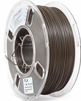 PRILINE Filament PLA 1,75 pour imprimante 3D, précision dimensionnelle +/-0,03 mm, bobine de 1 kg, chocolat