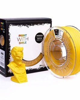 Printing with Smile Filament ABS pour imprimante 3D et stylo 3D Jaune 1,75 mm 1000 g