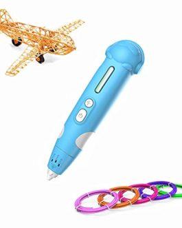 RC TECNIC Stylo 3d pour Enfant avec ABS PLA Filament imprimante avec Batterie Rechargeable Compatible avec 8 Couleurs 3D Pen pour le Dessin d'Impression Cadeaux d'Anniversaire Fille Garçon