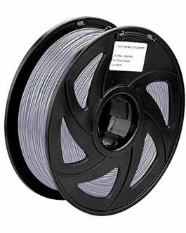 S SIENOC Filament ABS pour imprimante 3D Imprimante 3D ABS Filament 1,75mm 3D Imprimante Filament Argent 1KG (ABS Argent…
