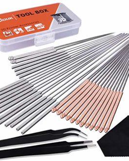 SIQUK 33 Pièces Aiguilles de Nettoyage 0.15mm, 0.25mm, 0.35mm, 0.4mm, 0.5mm Kit de Nettoyage de Buses pour Imprimante 3D…