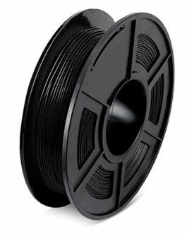 SUNLU 3D Filament TPU flexible 1,75 mm, erreur +/- 0,04 mm, 0,5 kg, 340 m, pas de BLASE, Noir, 1