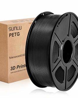 SUNLU PETG 3D Printer Filament, PETG green Filament 1.75 mm, 3D Printing filament Low Odor Dimensional Accuracy +/- 0.02…