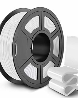 SUNLU PETG 3D Printer Filament, 3D Printing PETG Filament 1.75 mm, Strong 3D Filament, 1KG Spool (2.2lbs), White