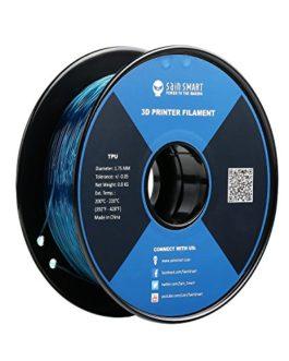 SainSmart Filament en TPU pour imprimante 3D 1,75 mm 0,8 kg De nombreuses couleurs au choix, bleu sarcelle, 1