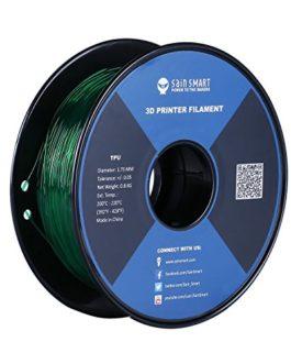SainSmart Filament en TPU pour imprimante 3D 1,75 mm 0,8 kg De nombreuses couleurs au choix, émeraude, 1