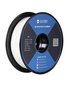 SainSmart White Flexible TPU 3D Printing Filament, 1.75 mm, 0.8 kg, Dimensional Accuracy +/- 0.05 mm