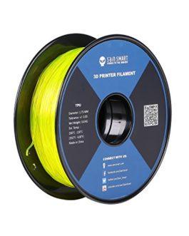SainSmart Yellow Flexible TPU 3D Printing Filament, 1.75 mm, 0.8 kg, Dimensional Accuracy +/- 0.05 mm