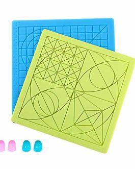 Sovol Lot de 2 grands tapis en silicone résistant à la chaleur pour enfants et débutants, avec 4 protège-doigts