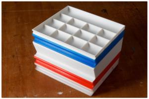 Plateau empilable pour vis / petites pièces / rangement #3DThursday #3DPrinting