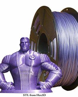 Stronghero3D Filament pour imprimante 3D PLA Galaxy Violet 1,75 mm Précision 1 kg +/- 0,05 mm pour Ender3 CR10 A8