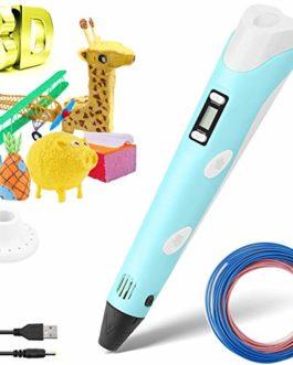 Stylo 3D Enfant, Stylo d'Impression 3D avec Filament PLA 3D Professionnel Pen avec Ecran LCD Contrôle de la température…