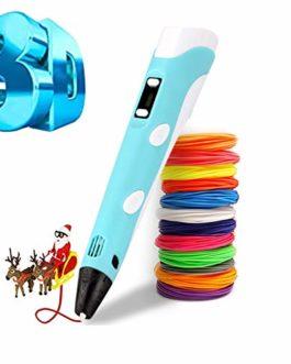 Stylo 3D à filament intelligent – Stylo d'impression 3D, 12 couleurs, compatible avec PLA et ABS, écran LCD, stylo à filament 3D, jouet/cadeau pour enfants