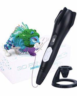 Stylo d'impression 3D, écran LCD 12 Couleurs Stylo 3D pour Enfants avec Bricolage réglable 120 Pieds avec température…