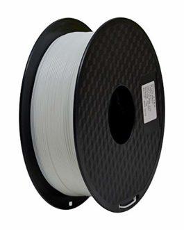 TEQStone ABS Filament 1,75 mm 1 kg pour imprimantes 3D et stylos 3D sous emballage sous vide (Blanc), 1