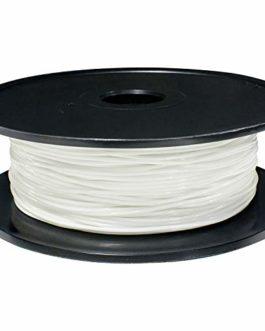 TEQStone Filament TPU 1,75 mm 400 g pour imprimante 3D et stylos 3D dans un emballage sous vide (blanc)