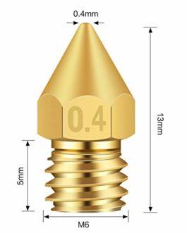 TUZUK Buses d'imprimante 3D 30 pièces Buse MK8 0,2 mm, 0,3 mm, 0,4 mm, 0,5 mm, 0,6 mm, 0,8 mm, 1,0 mm pour imprimante 3D…