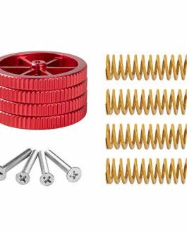Upgraded 4PCS Creality Aluminum Hand Twist Leveling Nut with 4PCS Hot Bed Die Spring and 4PCS M3X35mm Screw for Ender 3…