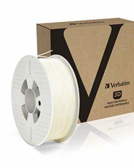 VERBATIM PP Filament Haute Performance en polypropylène avec Une épaisseur de 1,75 mm, 500 g, Transparent