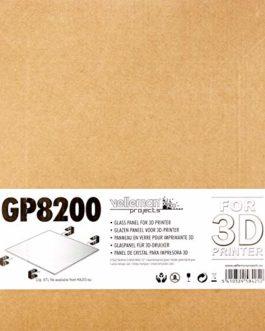 Velleman GP8200 Panneau en verre pour Imprimante 3D – 21,5 x 21,5 x 0,3 cm