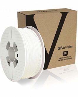 Verbatim PET-G Filament 2 85 mm glycol polyéthylène téréphtalate glycol, Blanc, 1