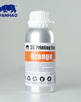 Wanhao 23438 Imprimante 3D UV Resin Orange 500 ml