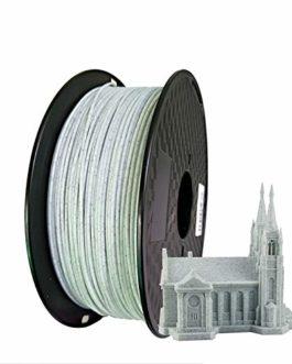 W.Z.H.H.H Accessoires d'imprimante 3D PLA Marble 3D Printer Filament PLA 1.75mm 250g 500g Pierre Fil Texture de la Roche…