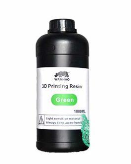 Wanhao 22348 Peinture UV pour imprimante 3D Vert 1000 ml