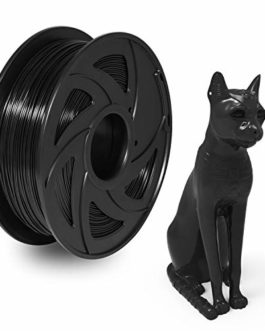 PETG Filament 1.75mm Imprimante 3D Filament Noir, XVICO 1.75mm PETG Filament, 1Kg