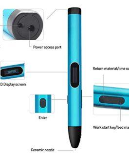 Xyfw Stylo 3D De 4Ème Génération Stylos 3 D Stylo D'imprimante 3D 1.75Mm ABS/PLA Filament Métal Matériel USB Charge…
