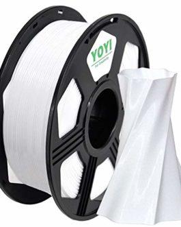 YOYI PETG Filament 1.75mm, PETG Imprimante 3D filament, Dimensional Accuracy +/- 0.02 mm (Blanc)