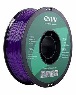 eSUN Filament PETG violet semi-transparent 1,75 mm 1 kg pour imprimante 3D – Précision dimensionnelle +/- 0,03 mm…