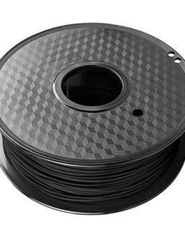 3D Printer Filament PC-CF Filament 1.75mm Carbon Fiber Reinforced Polycarbonate Material, 1kg Spool, Black