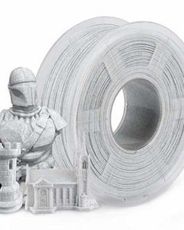 Filament PLA de marbre 1,75 mm, SUNLU Filament d'imprimante 3D PLA Marbre 1KG 2,2 LBS Bobine, 1,75 +/- 0,02 mm