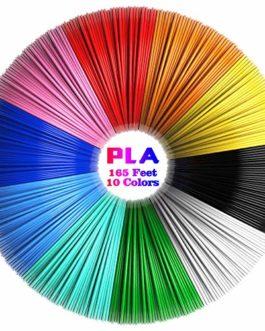 3D Stylo Fils Filament, Tecboss PLA Filament Stylo 3D Utilisé pour Stylo d'impression 3D Dessin, 10 Couleurs Filament…