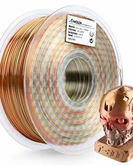 AMOLEN Imprimante 3D Filament PLA 1.75mm, Soie Métal Rainbow Multicolor 1KG,+/- 0.03 mm Matériel d'impression 3D pour…