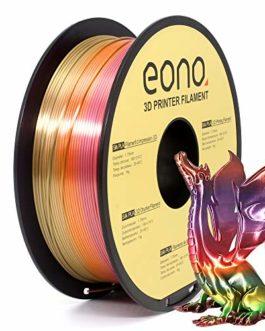 Amazon Brand-Eono Filament PLA pour imprimante 3D,couleur effet soie, idéal pour impression d'éléments décoratifs à…