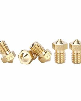 Anycubic Laiton 5pcs 0.4mm 3d imprimante Buse Tête d'impression M6fileté Buse pour 1.75mm ABS PLA Filament