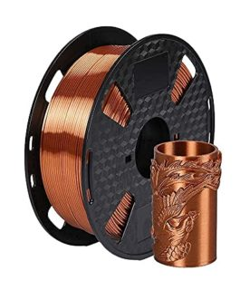 Eono Silk Copper PLA Filament 1.75 mm 3D Printer Filament 1KG 2.2 LBS Spool 3D Printing Material Shine Silky Metallic Shiny Metal PLA Filament