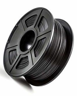 Filament 3D en fibre de carbone PETG, anti-statique et anti-interférence, 1,75 mm, 1 kg, noir