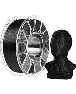 Filament PLA 1,75 mm, Filament d'impression 3D Comgrow PLA noir, précision dimensionnelle +/- 0,02 mm, bobine de 1 kg (2…