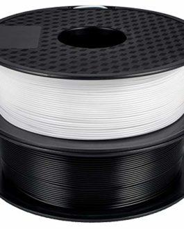 GEEETECH Filament PLA 1,75 mm pour imprimante 3D – Blanc et noir