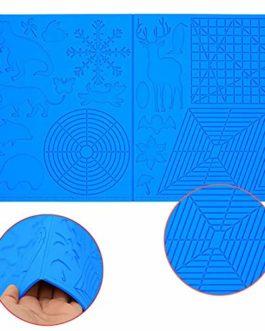 Modèle pour stylo 3D, modèle pour stylo d'impression 3D, grand tapis (45 cm x 28 cm, épaisseur : 3,5 mm) avec motif…