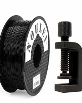 Noulei Filament PETG pour imprimante 3D 1.75 mm, Ombres et Strong 3D Filament, (Noir 1kg 2.2lbs)