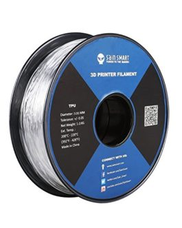 SainSmart Filament d'impression 3D en TPU 3 mm, 1 kg, transparent