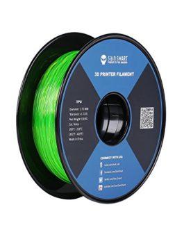 SainSmart Green Flexible TPU 3D Printing Filament, 1.75 mm, 0.8 kg, Dimensional Accuracy +/- 0.05 mm