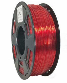 Stronghero3D bureau fdm 3d filament pour imprimante PETG clair rouge 1.75mm précision de dimension de 1kg (2.2 lbs) de…