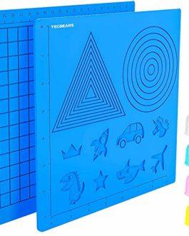 Tecbears Tapis de Stylo 3D,Tapis de Silicone pour Stylo d'impression 3D,Tapis de Conception en Silicone Grand Modèle de…