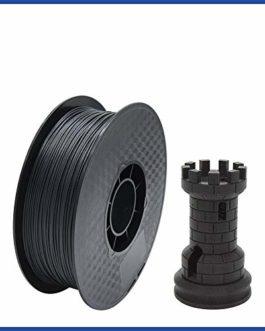 Xiaomindian Fibre de Carbone PLA 3D Filament 1.75mm, ROHS, 1 kg (2,2 LB) de Bobine, la précision dimensionnelle +/- 0,02…
