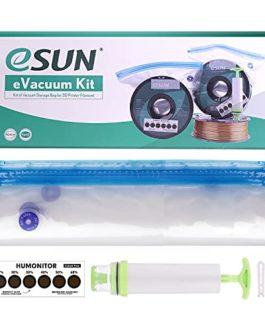 eSUN Kit eVacuum, 10 Pièces Filament d'imprimante 3D Résiste à l'humidité Sac de Rangement avec Pompe à Main…